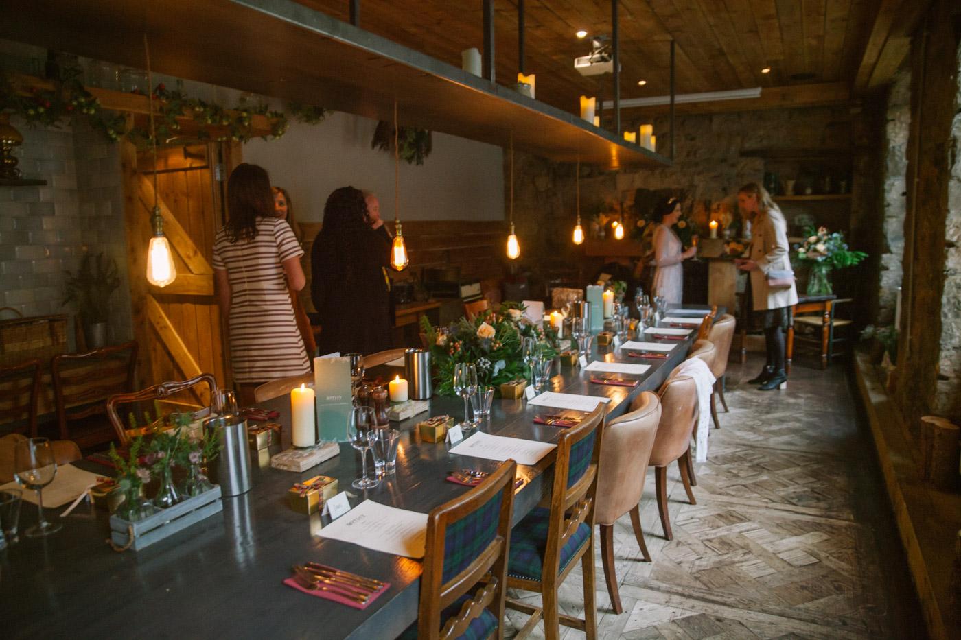 Interior of Bothy Glasgow Wedding Venue | Glasgow wedding photographer