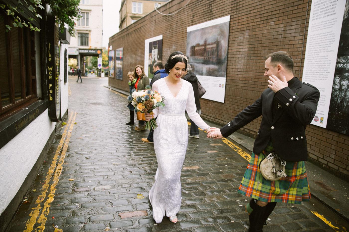 Glasgow Alternative Modern Wedding Photographer