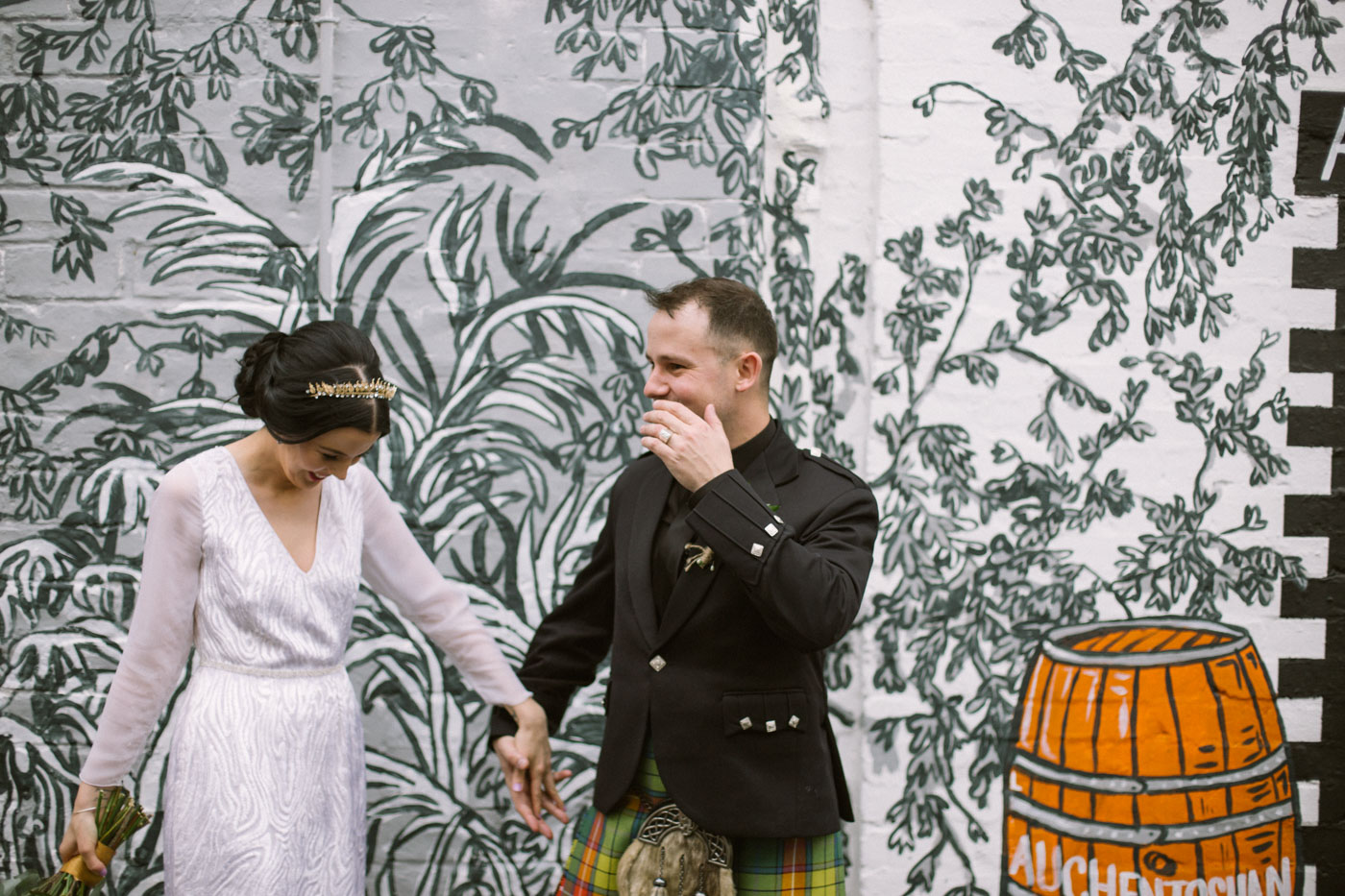 Scottish quirky wedding photographer