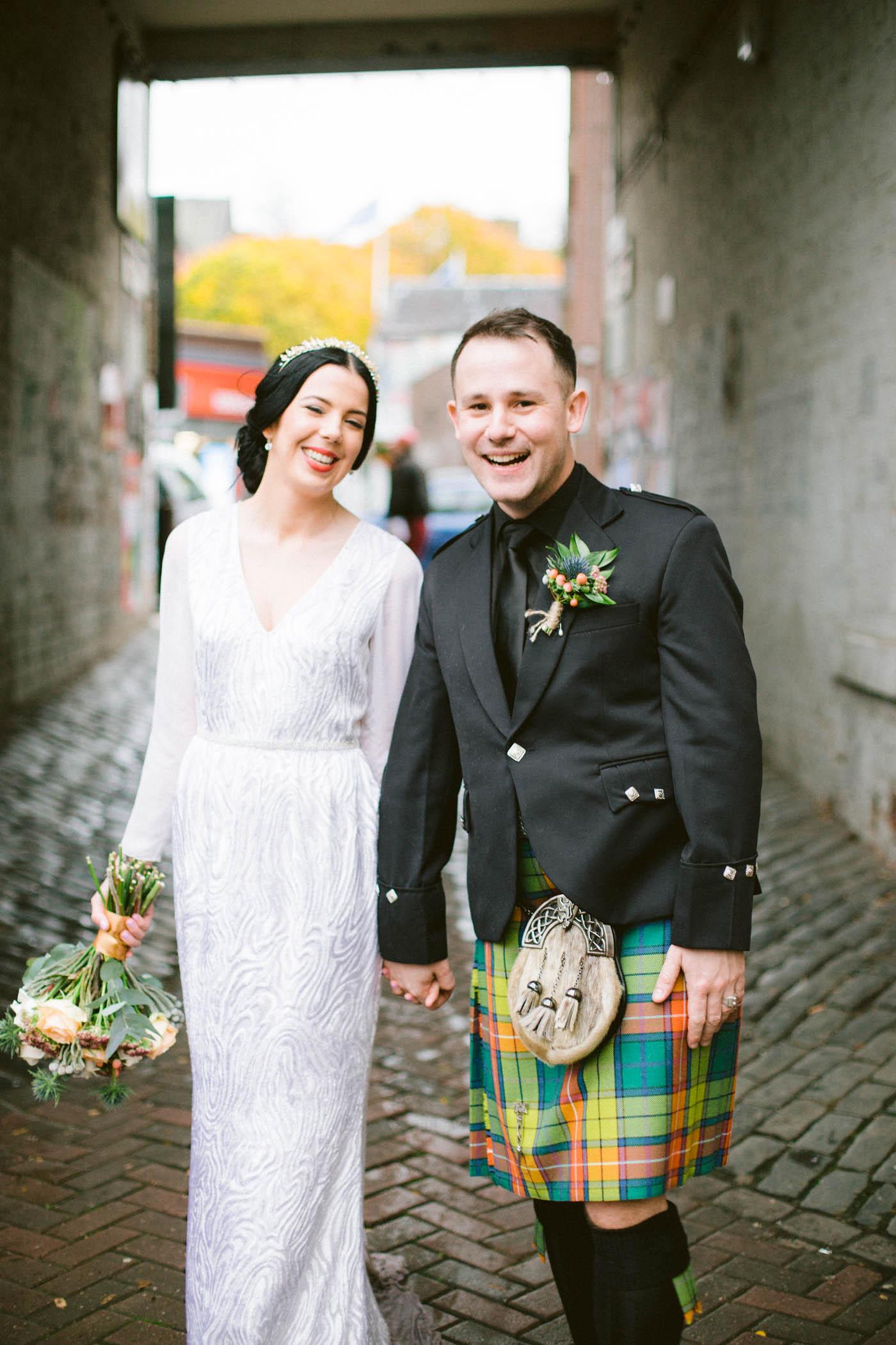 Glasgow fun wedding photography