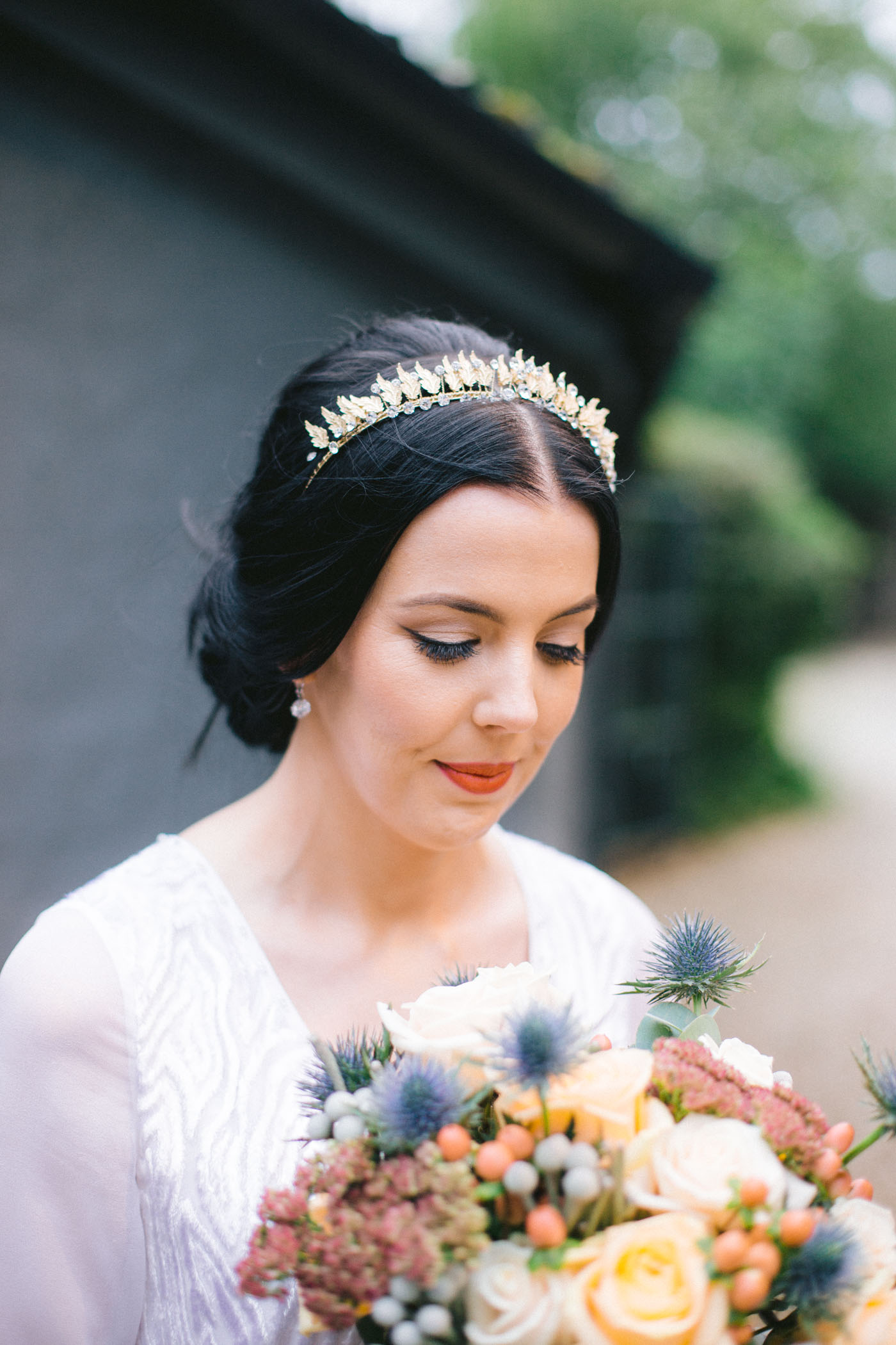 AMM team Makeup | Vintage bride inspiration | tiara | Glasgow wedding photography