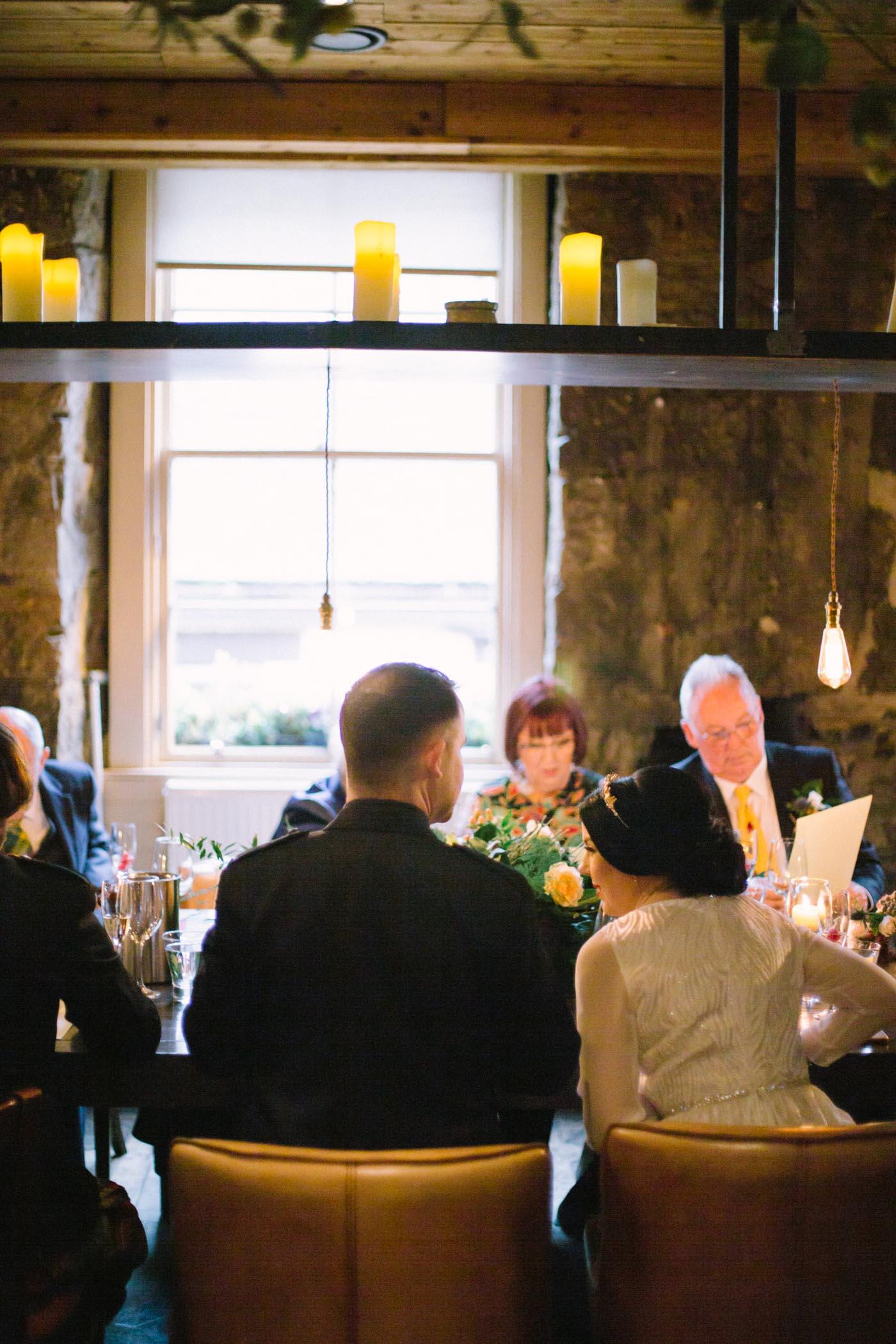 Bothy Glasgow Intimate Wedding Reception Photography | Scottish Wedding Photographer