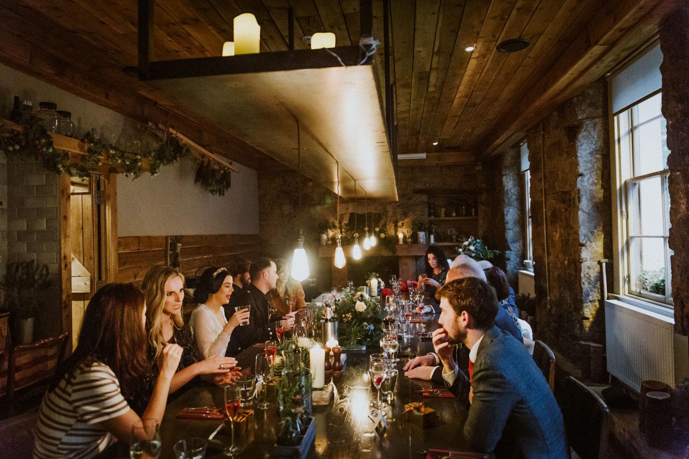 Bothy Glasgow Intimate Wedding Reception Photography
