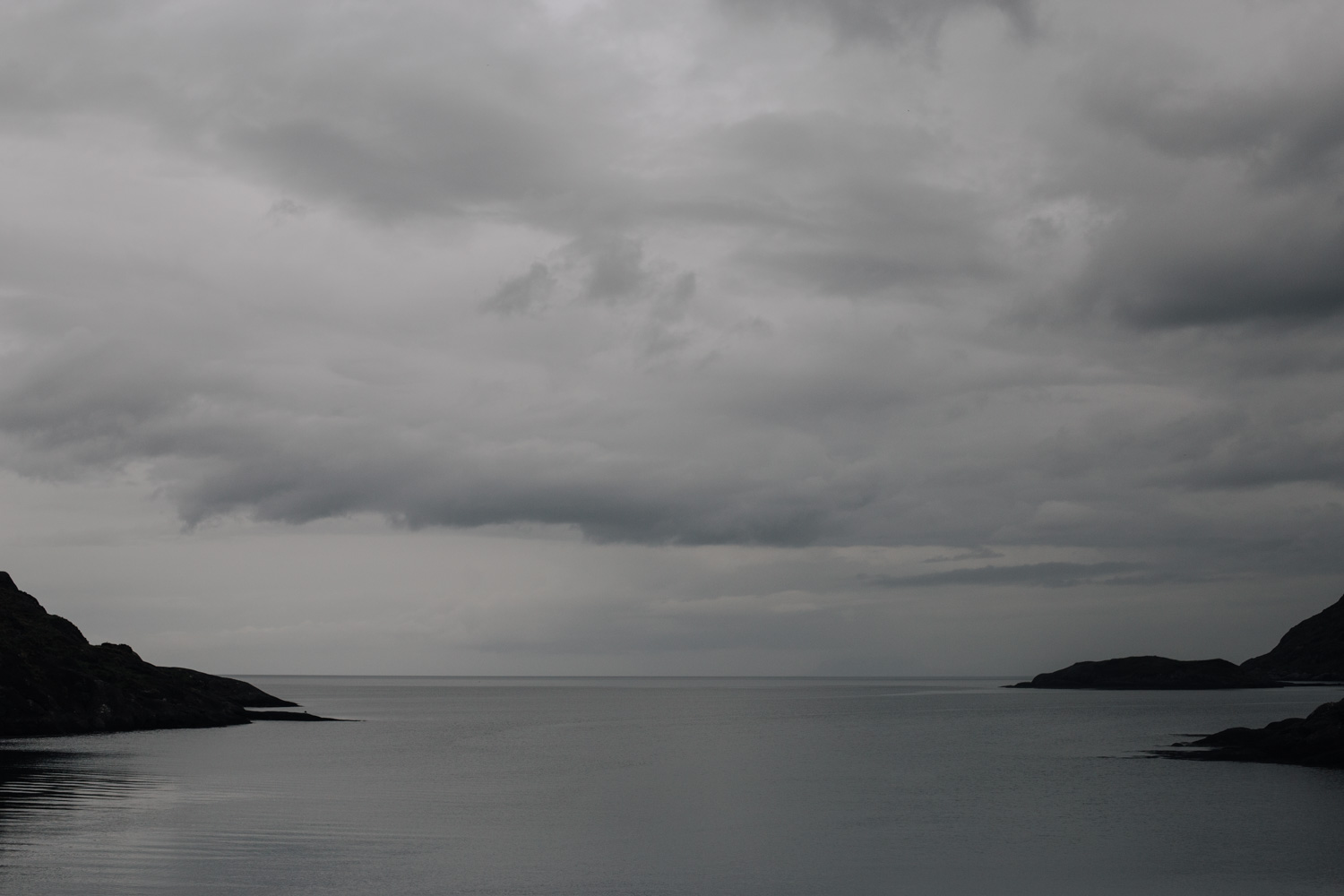 Dark skies over the sea
