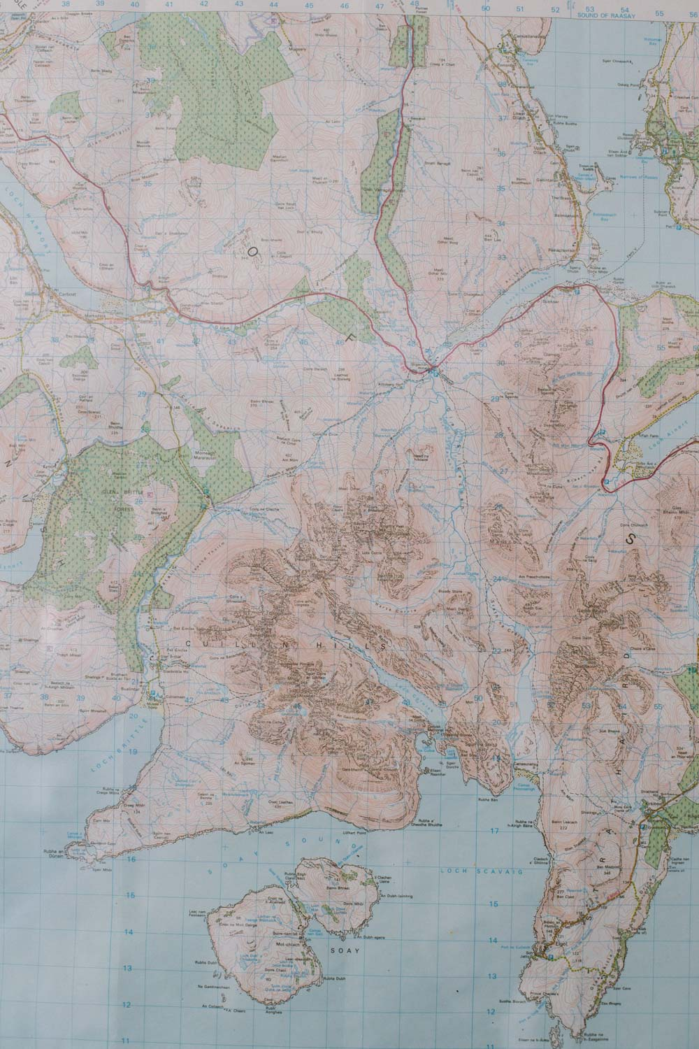 Isle of Skye map photo