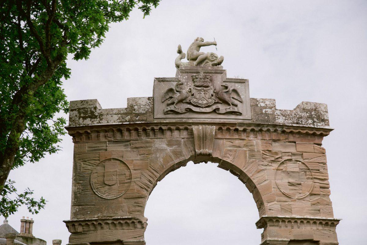 The gate of Culzean Castle