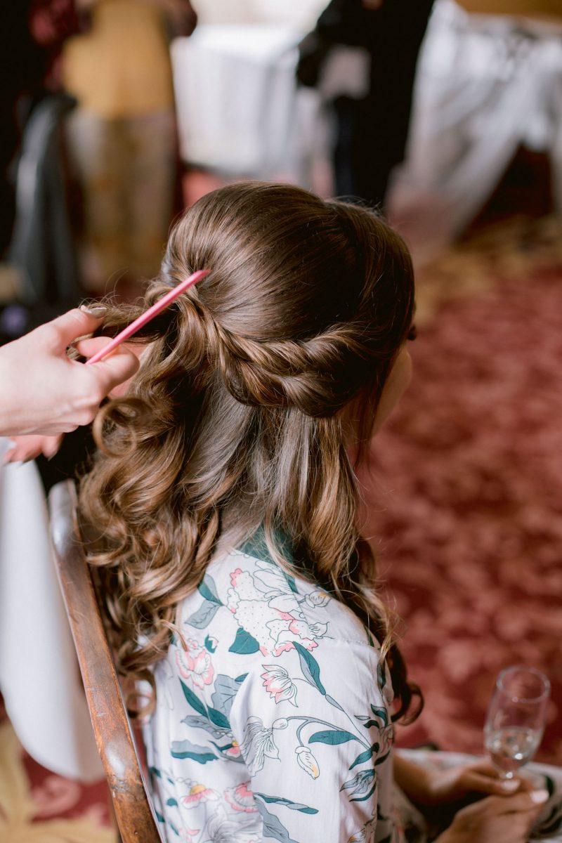 Bride getting ready photos at Culzean Castle