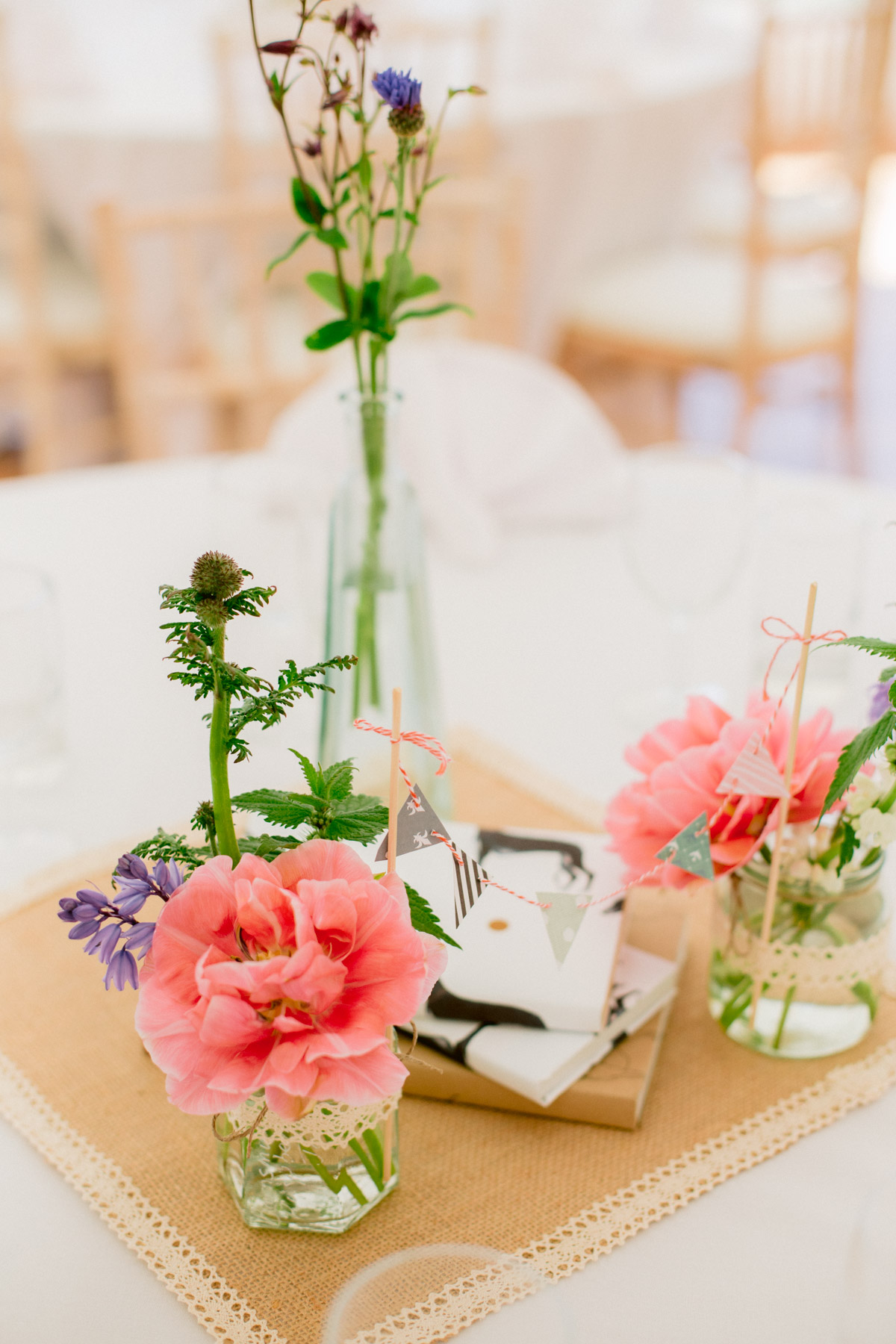 Dog themed Colourful gentle centerpieces inspiration