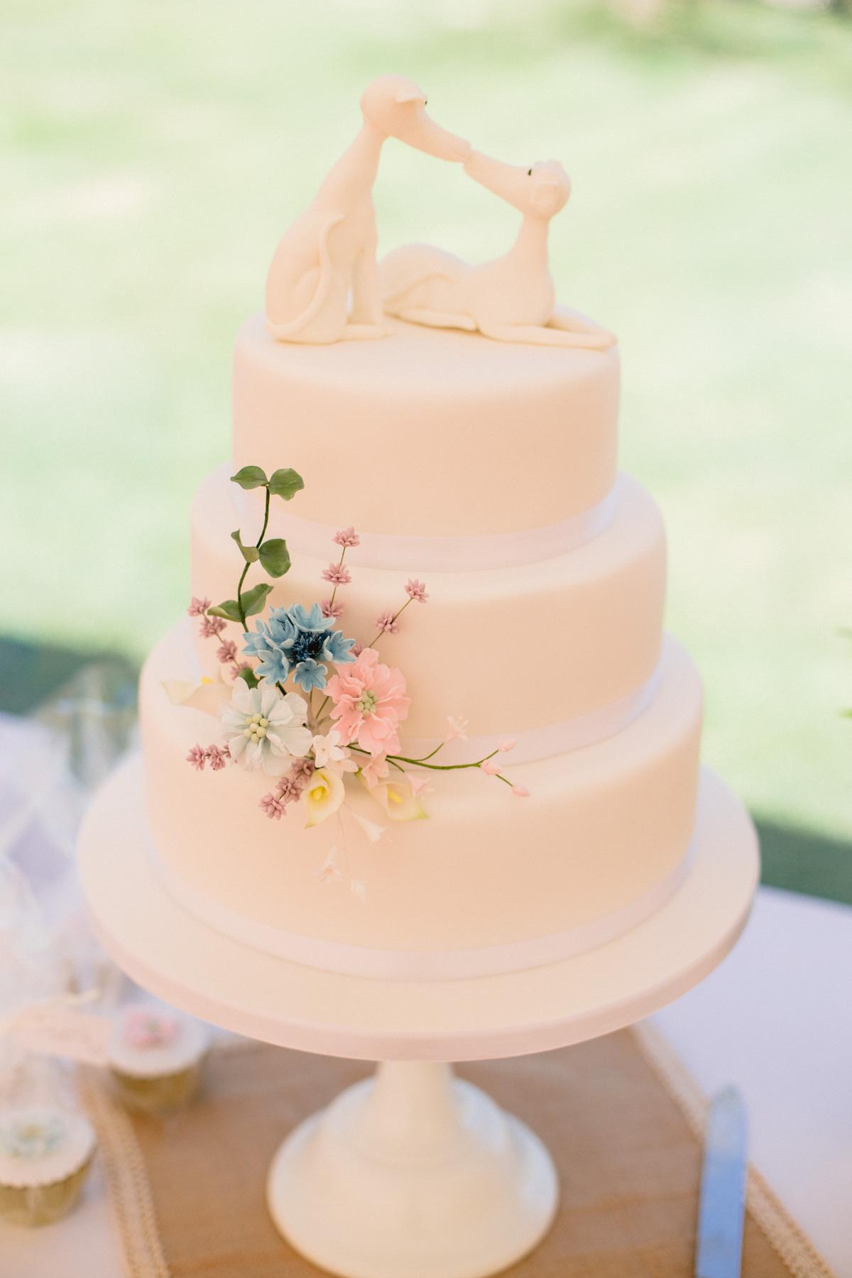 Dog Themed Wedding Cake | Marquee Wedding at Paxton House - Scottish Borders Wedding Photography