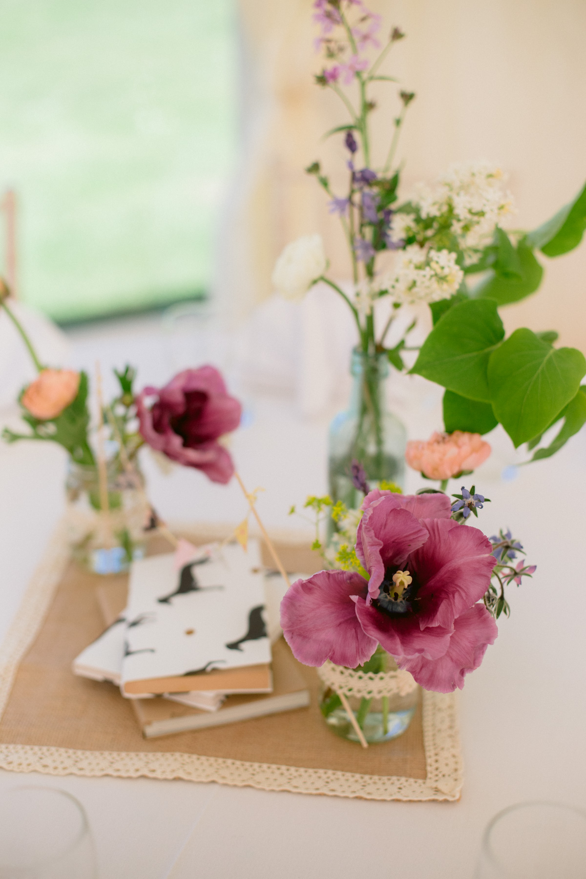 Dog Themed Centerpieces - Colourful Marquee Wedding at Paxton House - Scottish Borders Wedding Photography