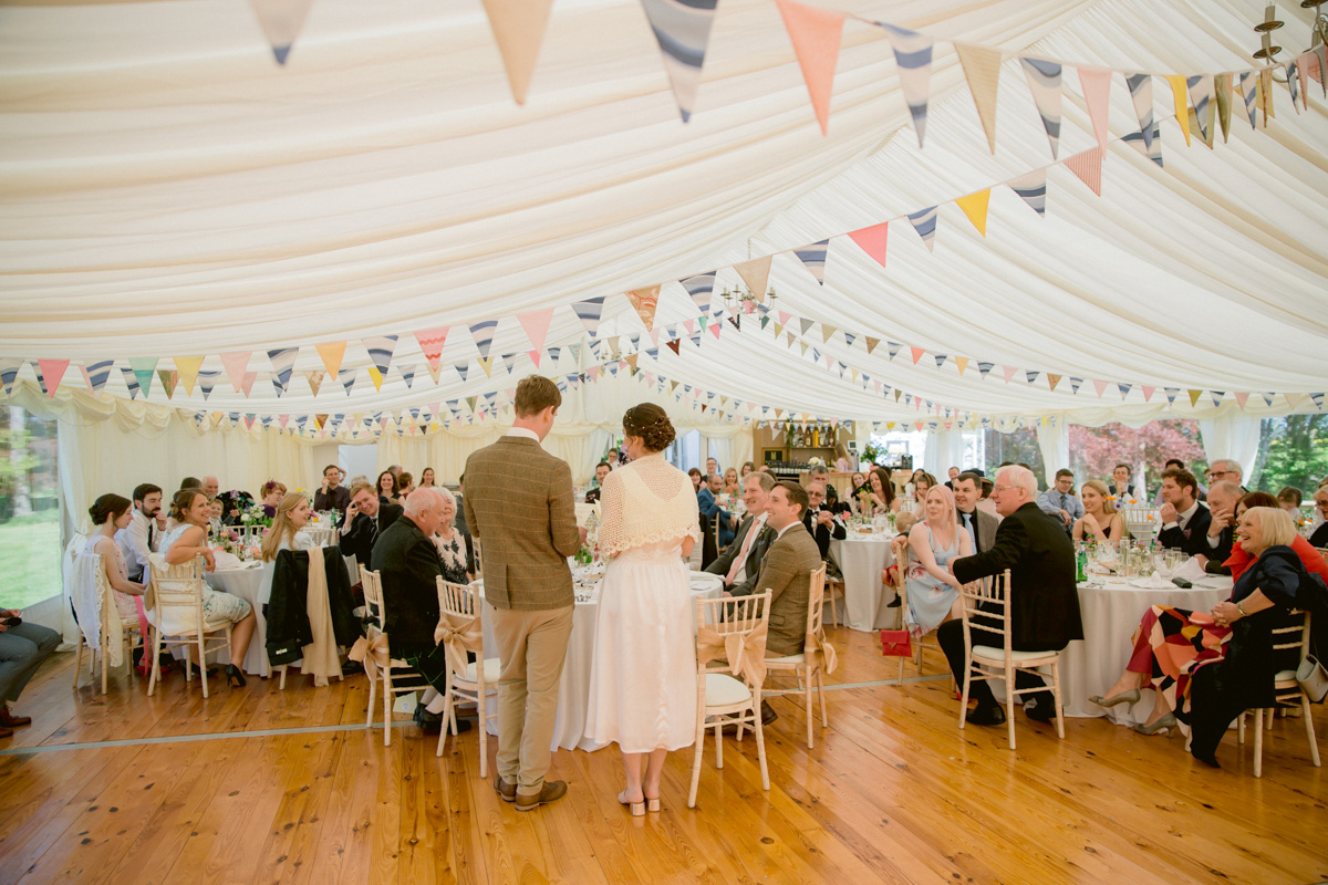 Paxton House Wedding Marquee Reception