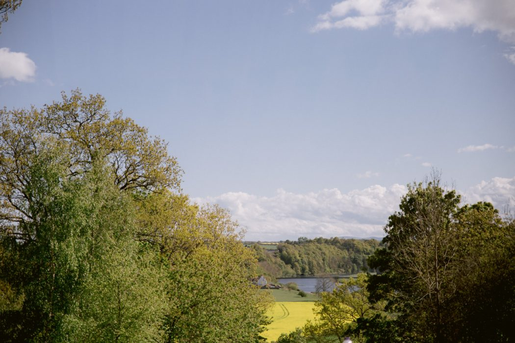 Tweed Valley Wedding Photography - view from Paxton House Wedding
