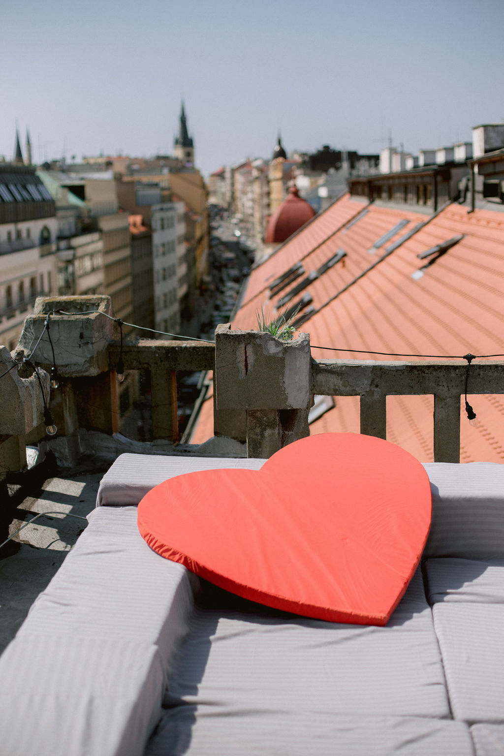 Prague rooftop wedding