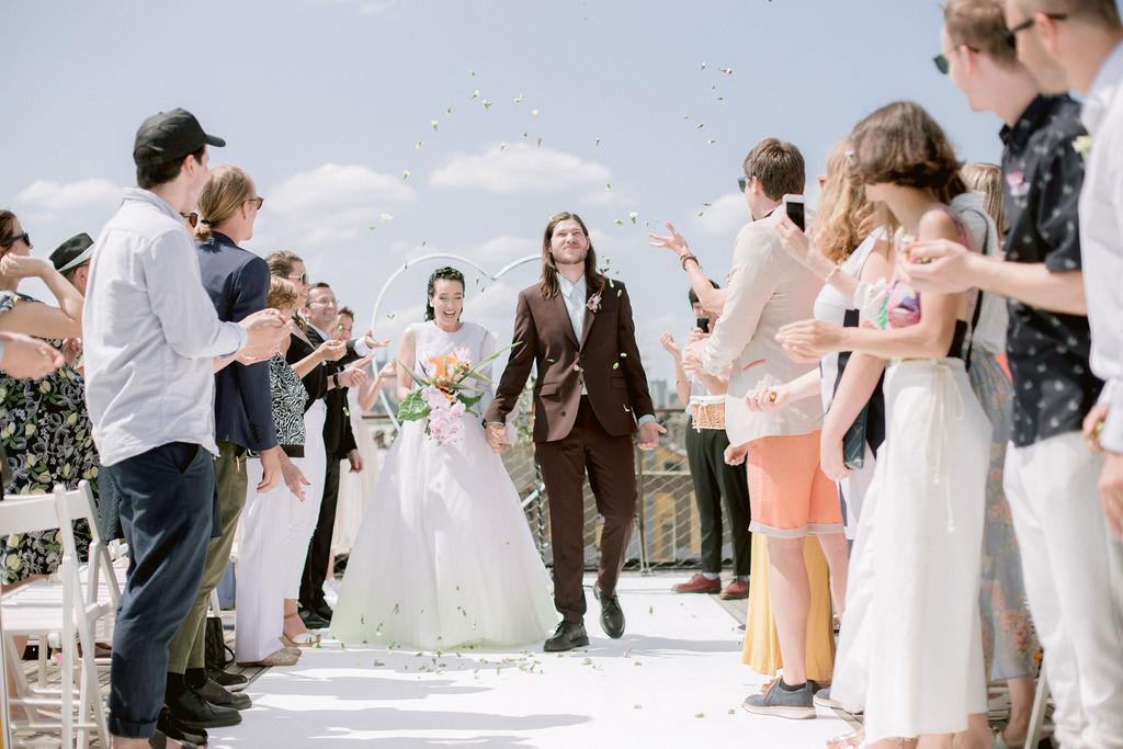 Prague Rooftop Wedding | Svatba střecha Lucerny