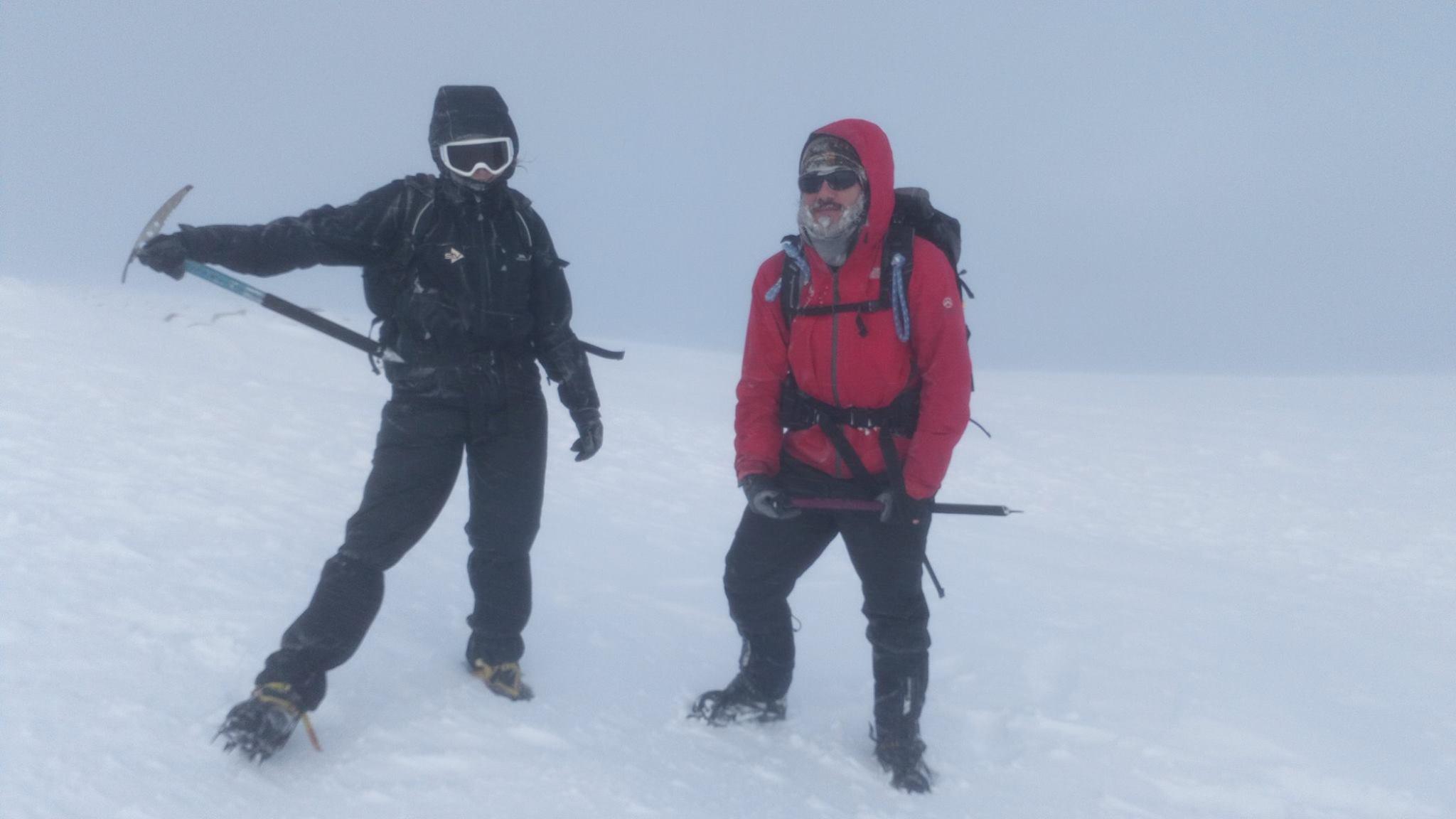 Hiking in Scotland in winter