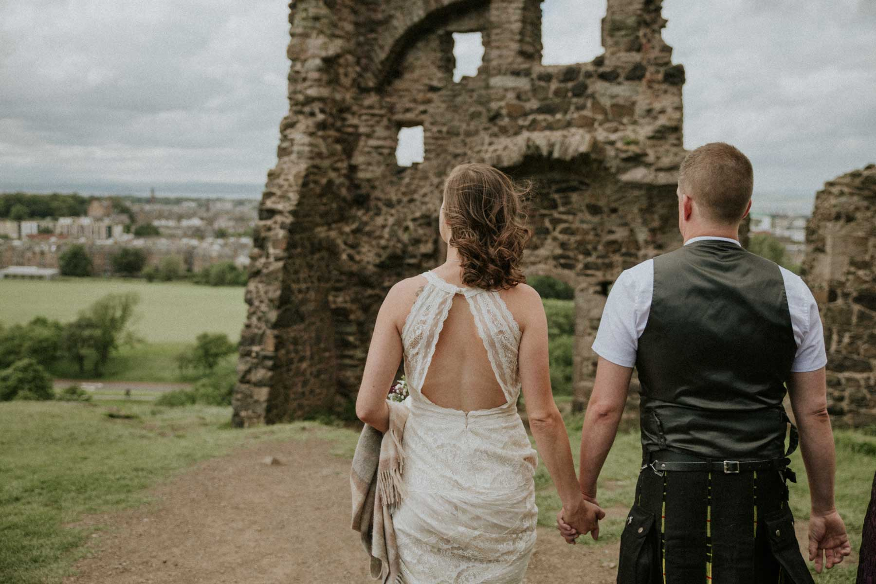 Edinburgh Elopement | Intimate Destination Wedding | Holyrood Park St Anthony Chapel Elopement