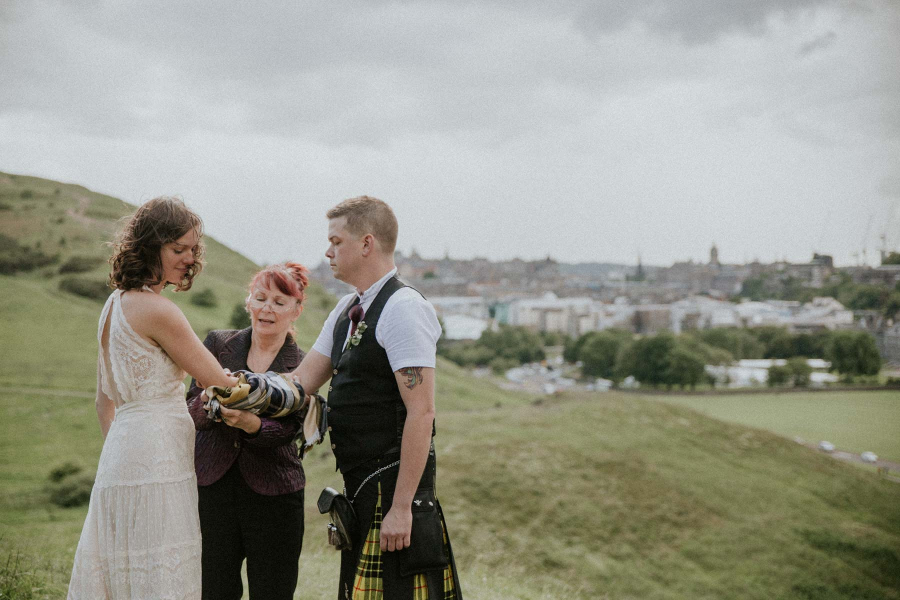 Handfasting | Edinburgh Elopement | Intimate Destination Wedding