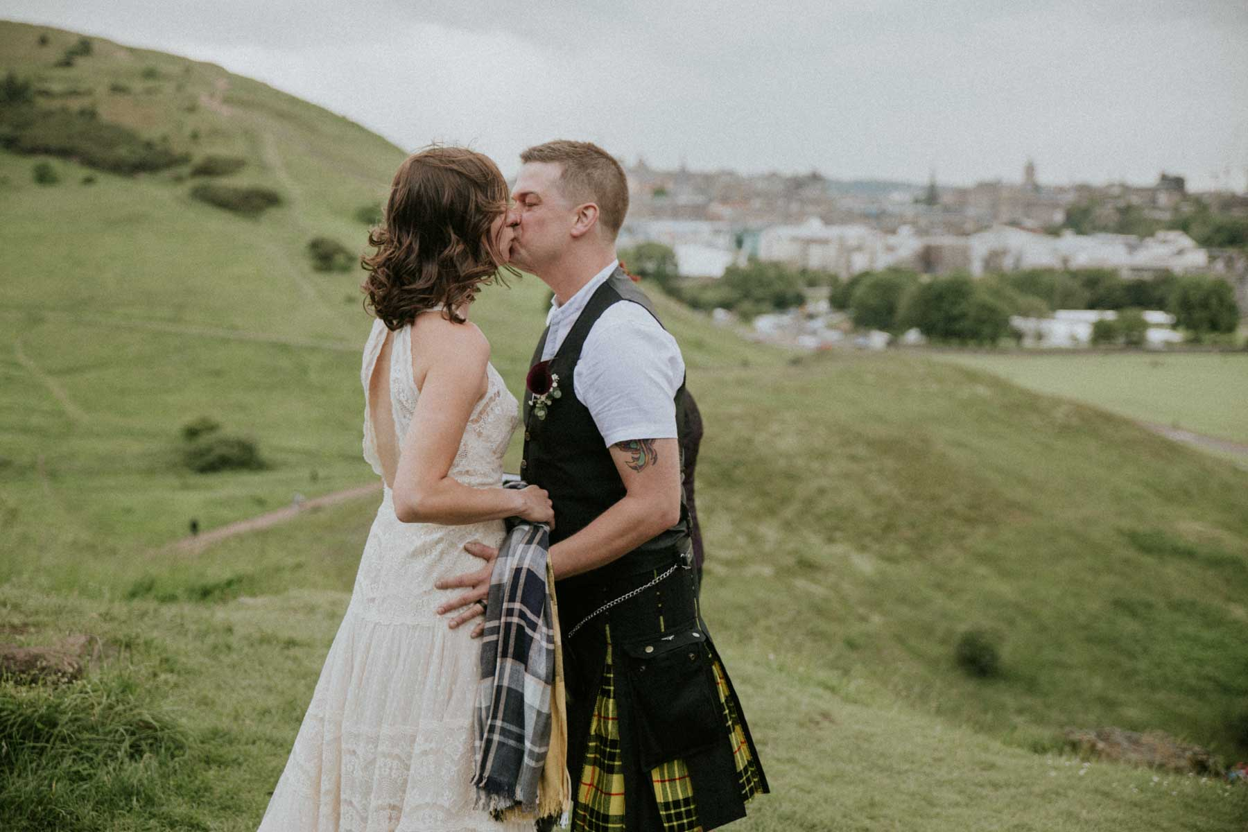 Edinburgh Elopement | Intimate Destination Wedding