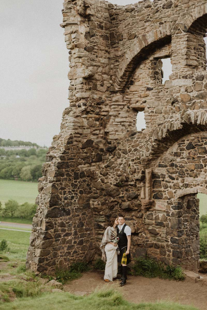 Holyrood Park Elopement Photography