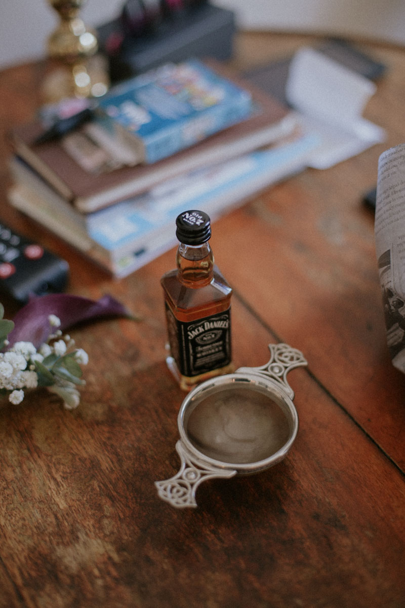 Jack Daniels Quaich Ceremony | Edinburgh Elopement | Intimate Destination Wedding