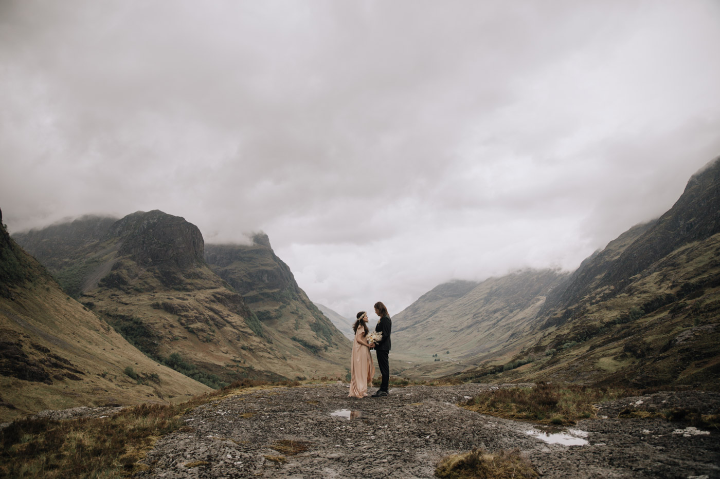 Adventure Elopement Scotland | Scottish Mountain Elopement Photographer.
