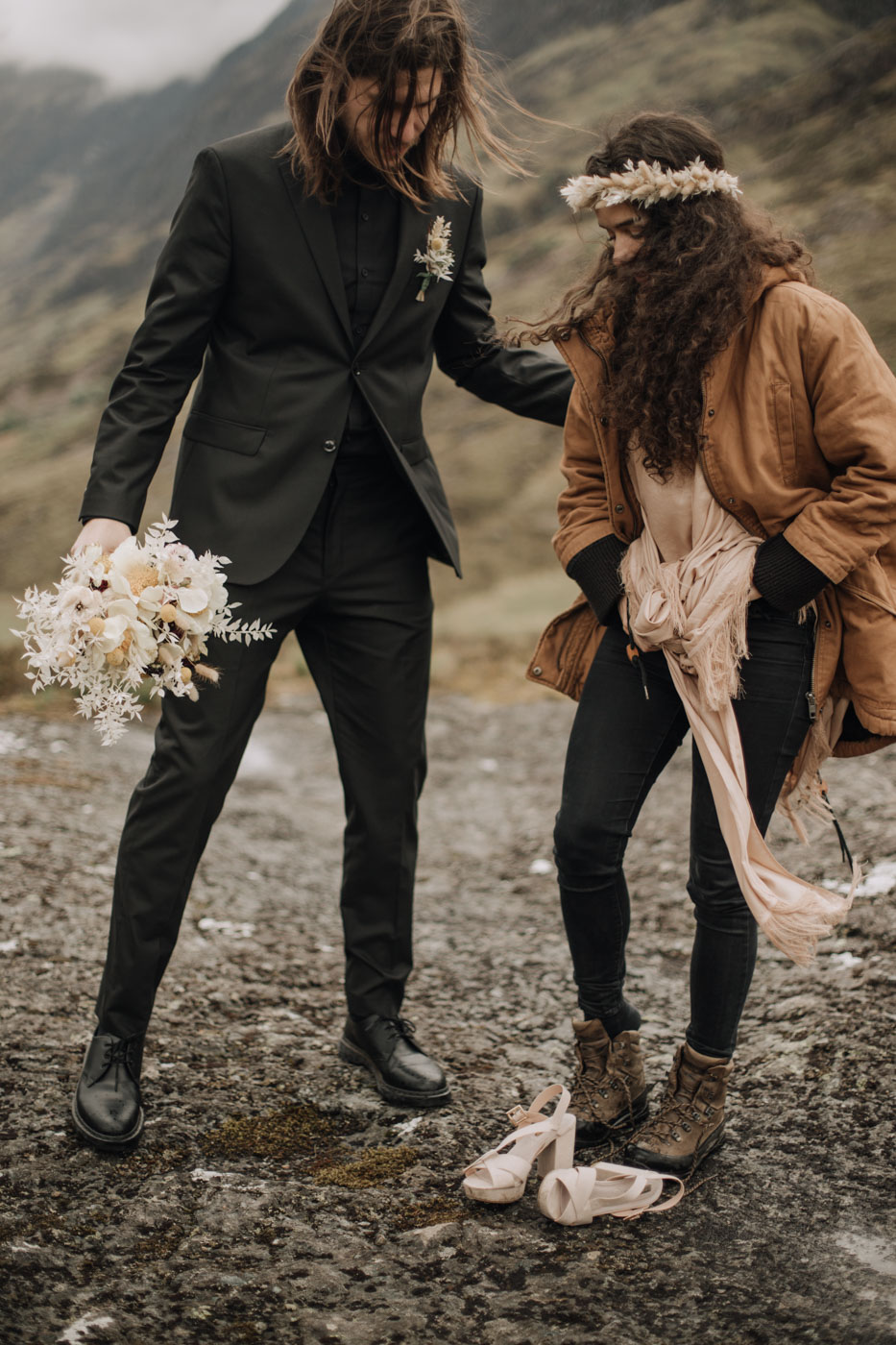 Hiking Elopement Scotland | Ceranna Photography