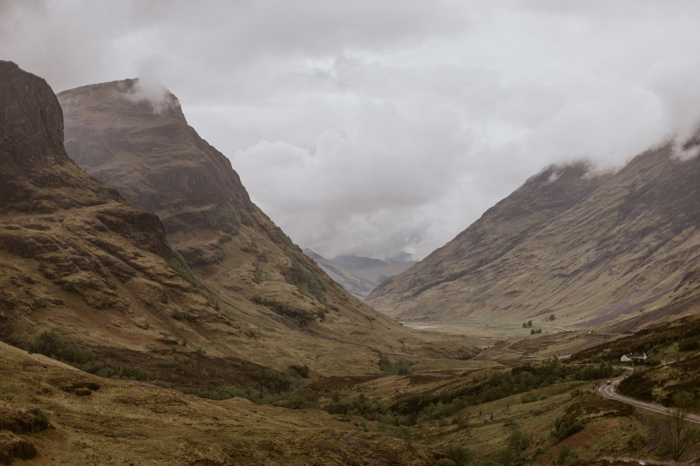 Glencoe Valley Scotland in Autumn