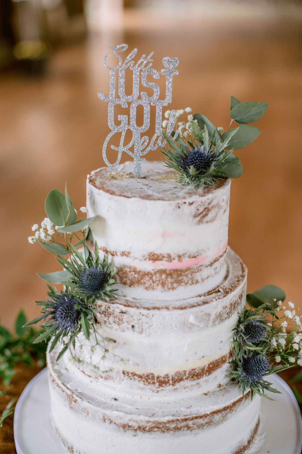 Shit Just Got Real Wedding Cake Topper Kirknewton House Wedding | Edinburgh Wedding Photographer