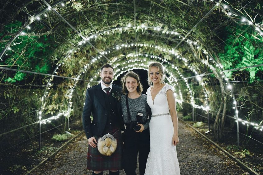 anna portrait with bride and groom - ceranna photography - scotland wedding photographer