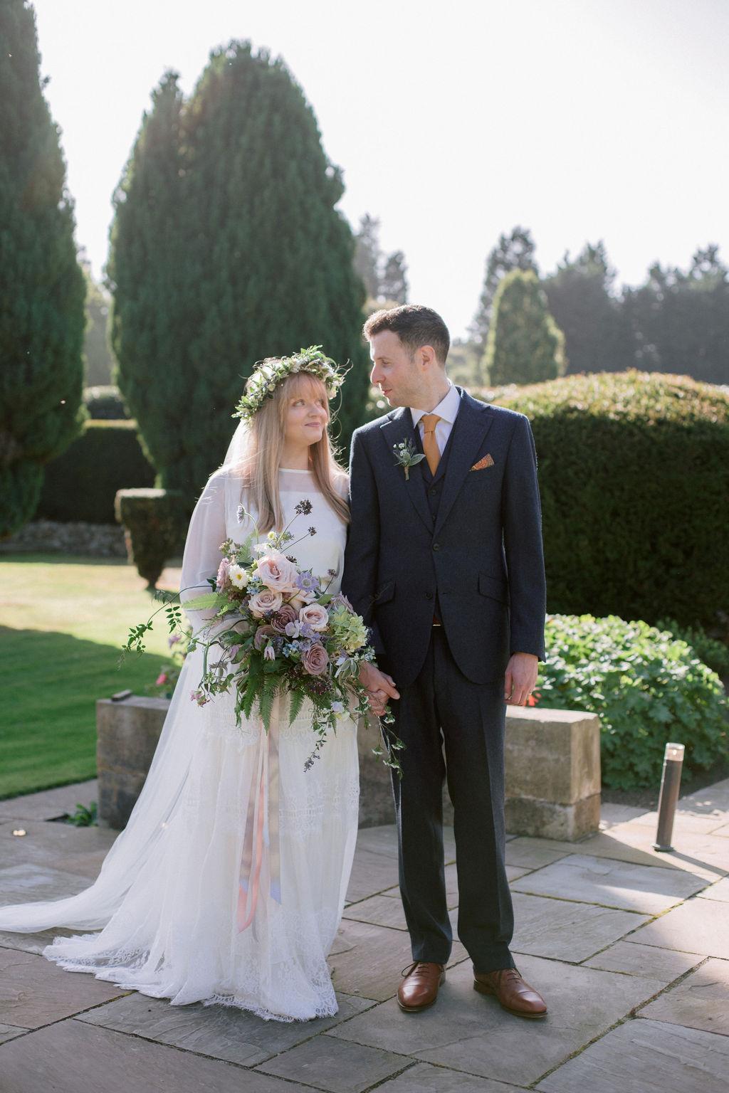 Gilmerton House Wedding - Narcissus Flowers wedding bouquet