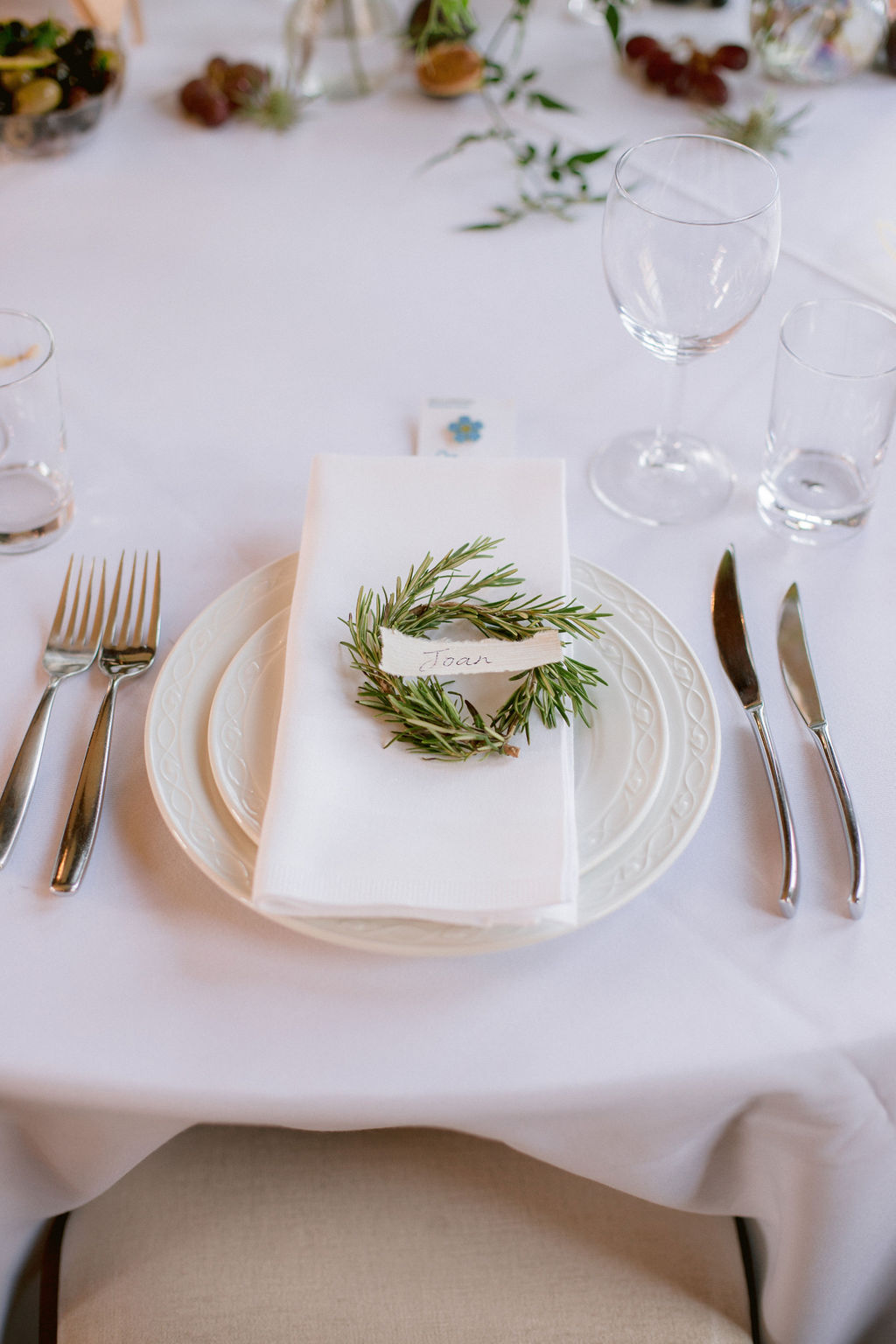 Lavender wedding table desing