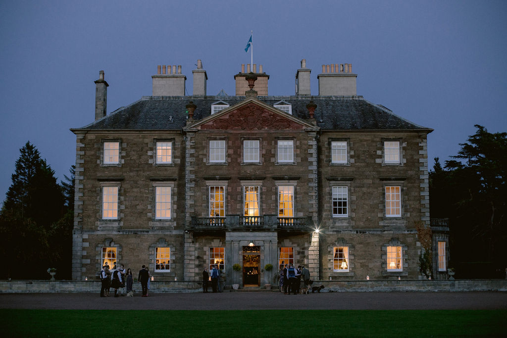 Gilmerton House at night