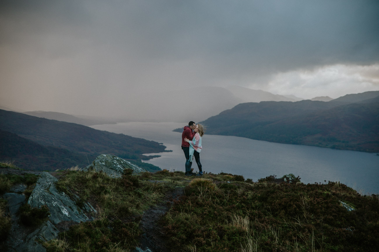 Loch Lomond Adventure Couple Photographer
