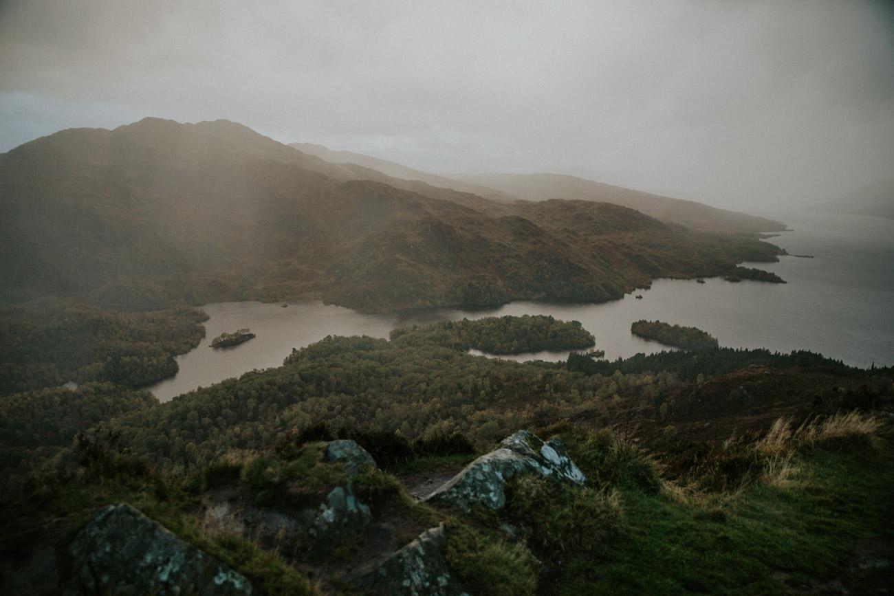Loch Lomond in Rain