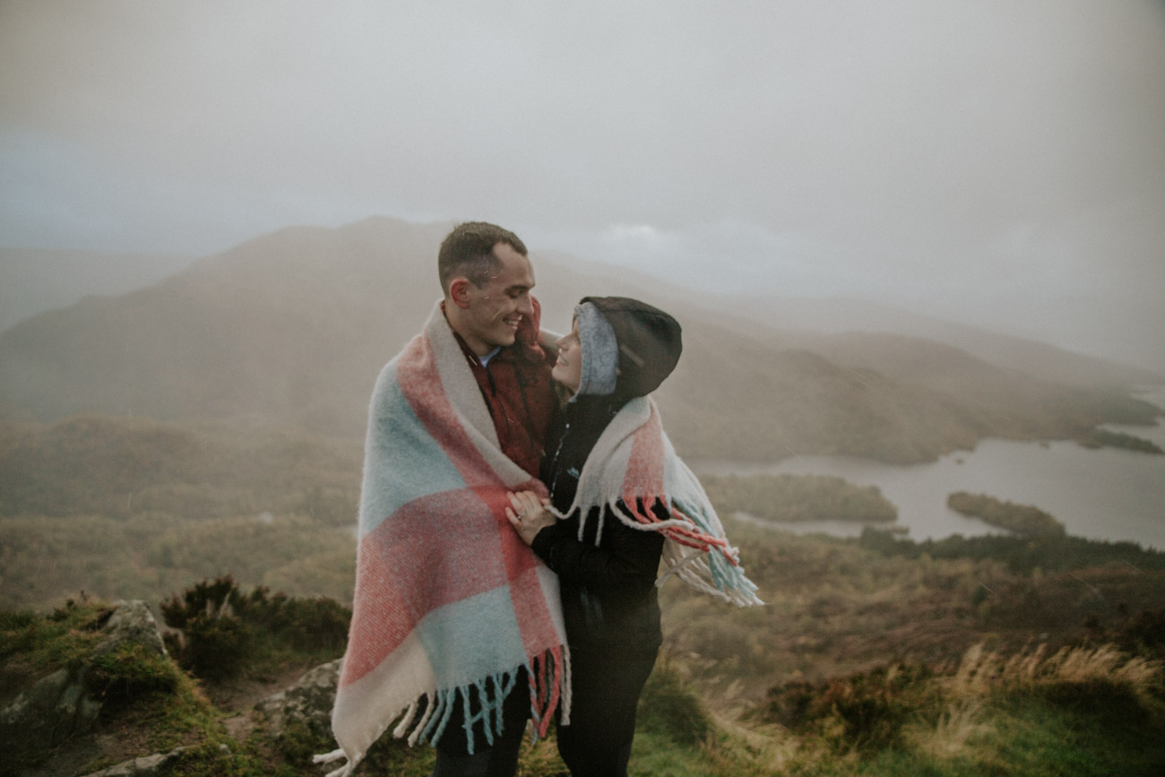 Hike Engagement in Scotland | Loch Lomond Couple Photography