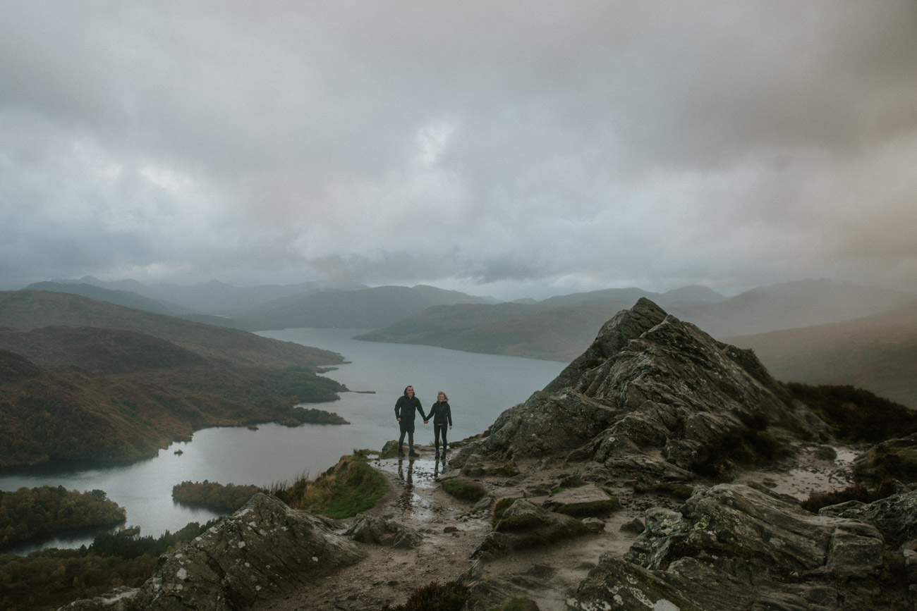 Alternative Hiking Engagement Session in Scottish Highlands