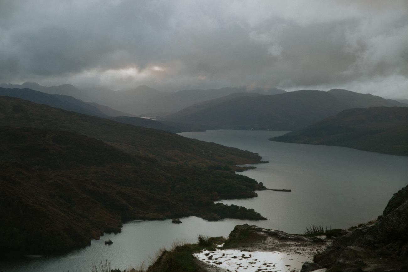 Ben Aan in the rain   Loch Lomond and Trossachs National Park