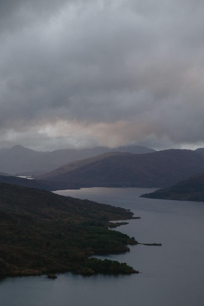 View from Ben Aan across Loch Katherine