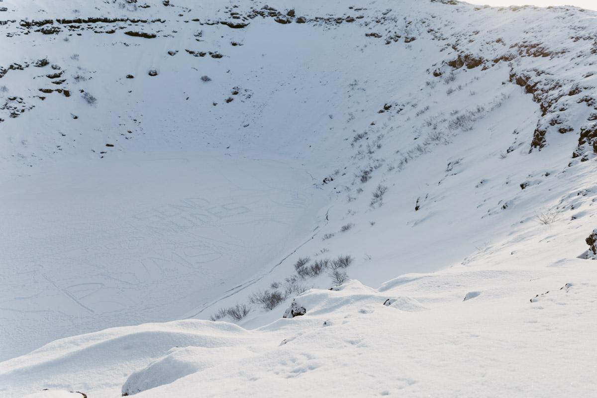 Kerid Crater in Winter