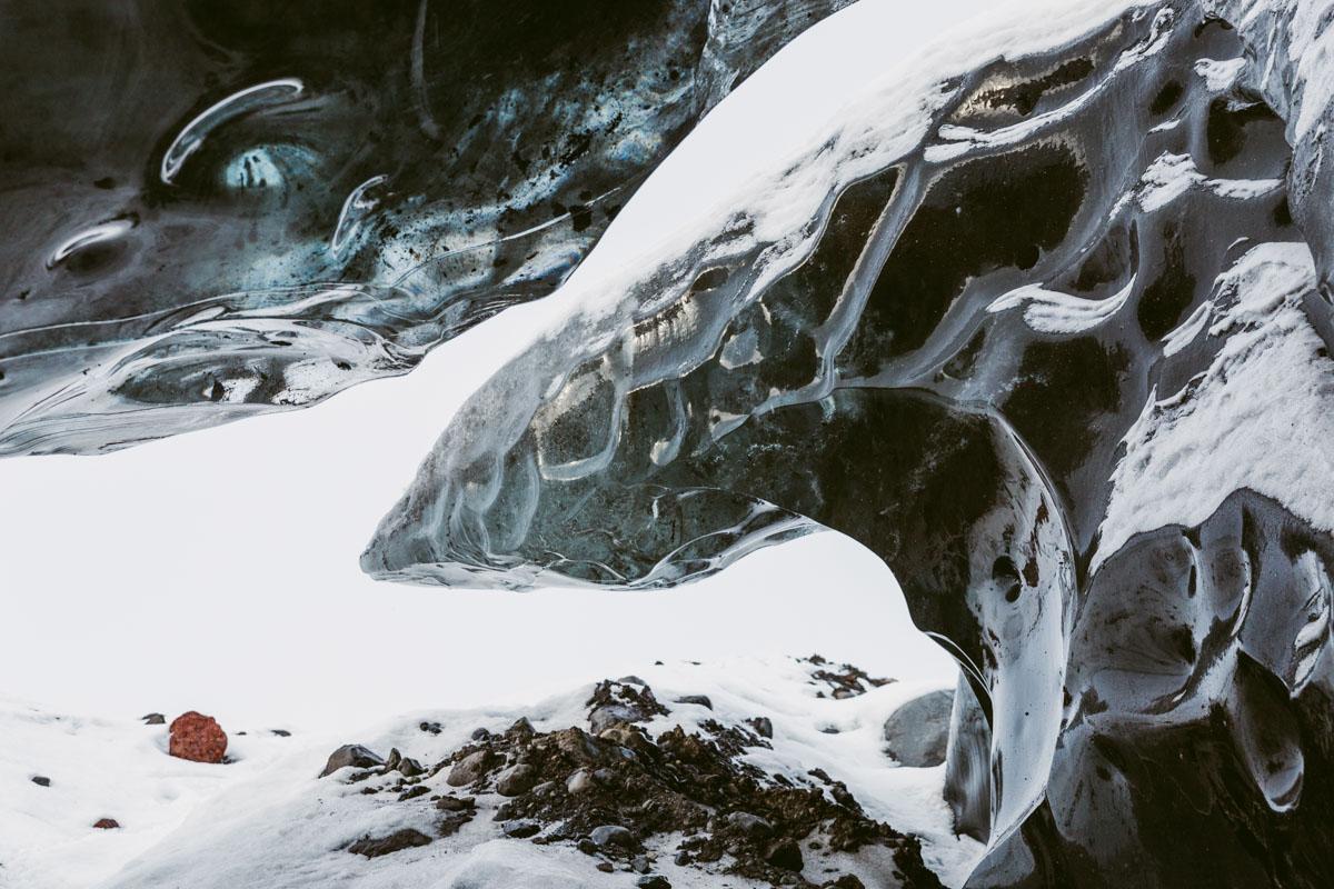 glacier texture winter iceland adventure