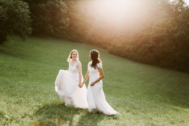 Dvě nevěsty - svatba na hradě Potštejn | Queer svatba