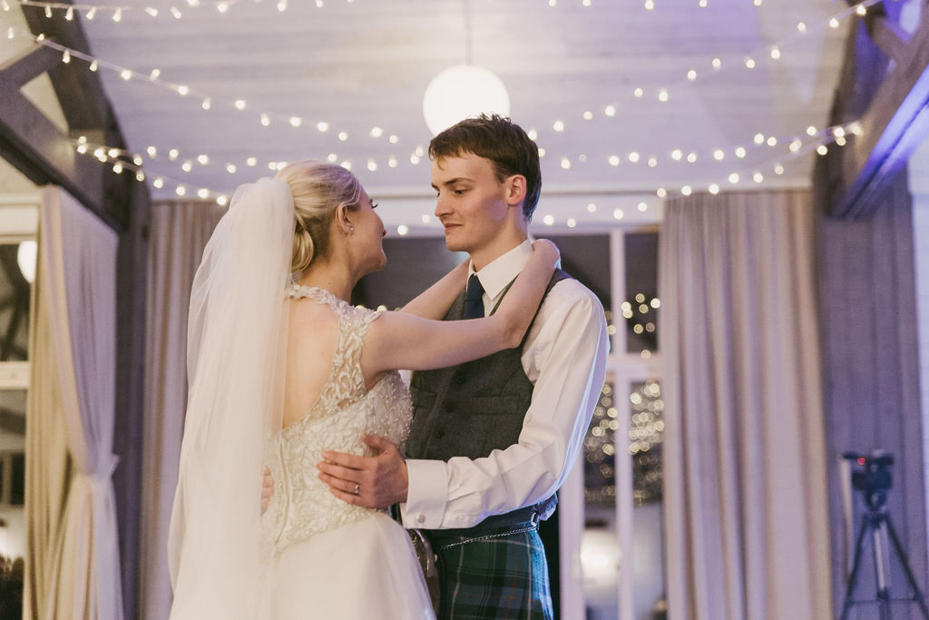 First dance | The Barn at the Barra Castle Wedding Photography by Ceranna | Aberdeenshire Wedding Photographer