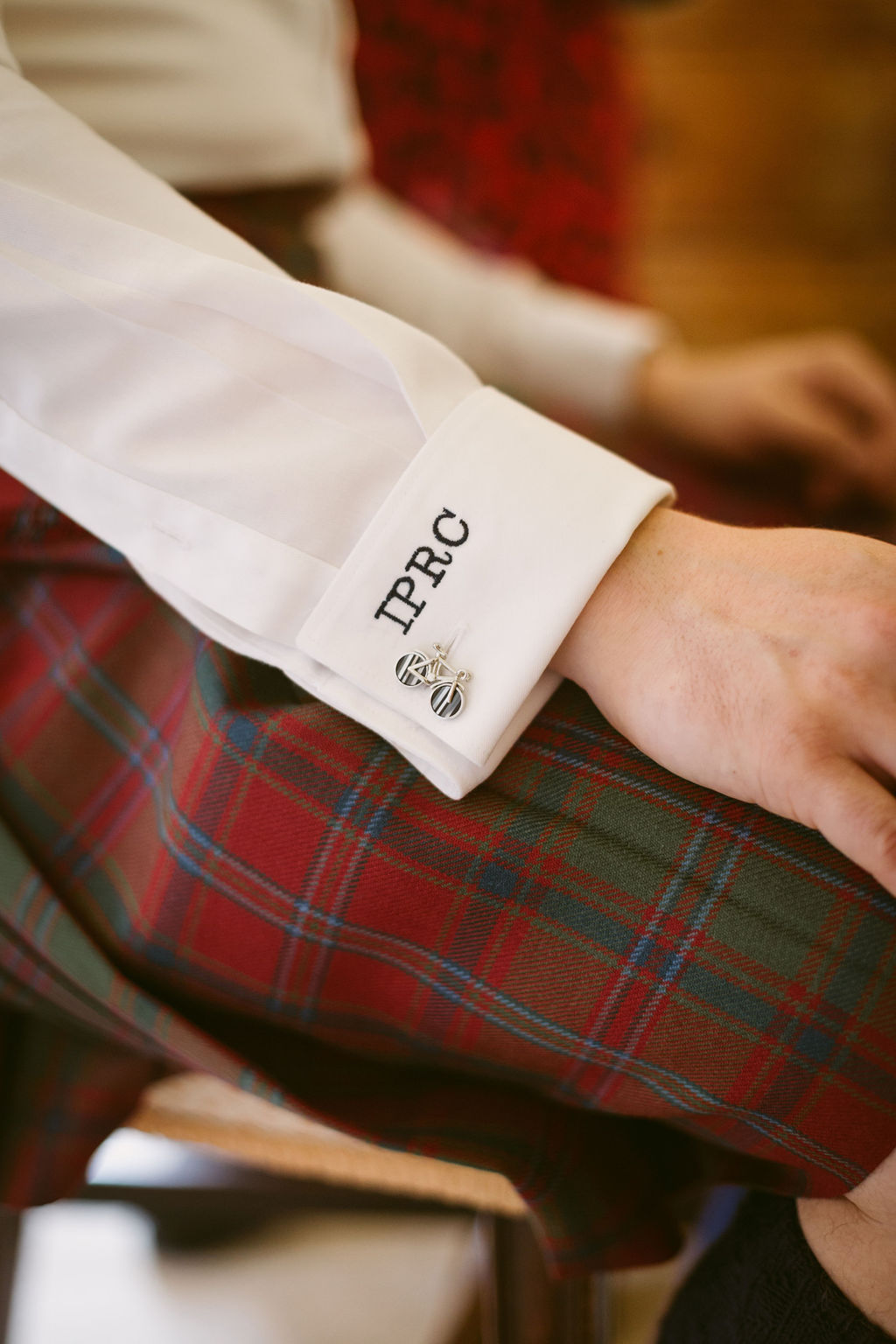 Bike cufflinks | Wedding at Elsick House | Aberdeenshire | Groom outfit inspiration | Original Cufflink