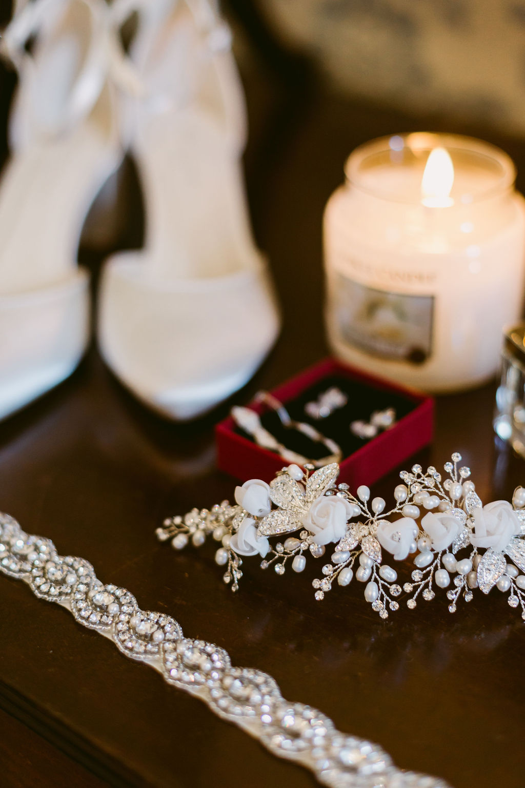 Wedding Hair Piece Jewellery by Claire Notarangelo - Red Rocks | Aberdeen Wedding Jewellery | Elsick House Photography