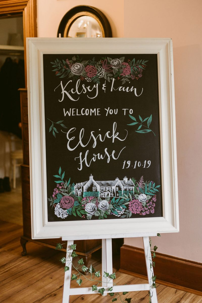 Elsick House Hand Written Sign by Amy Singer Arts for Robins Egg | Hand Lettering