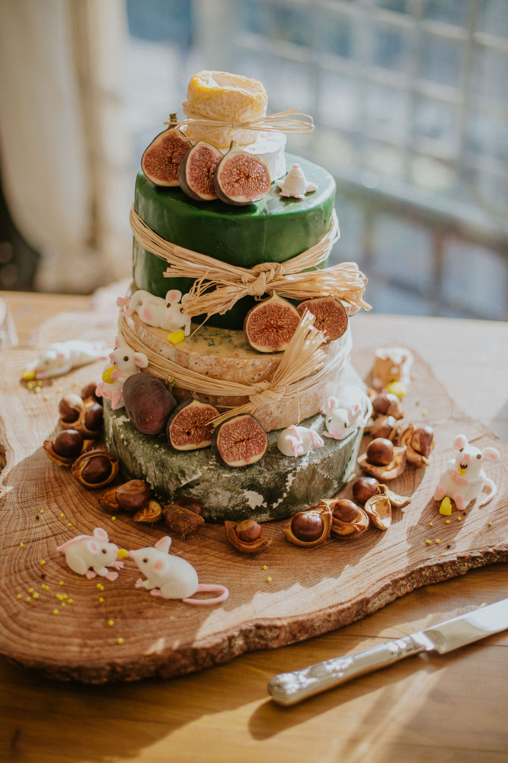 Original Wedding Cheese cake with fun mice | Kilted Frog Delicatessen