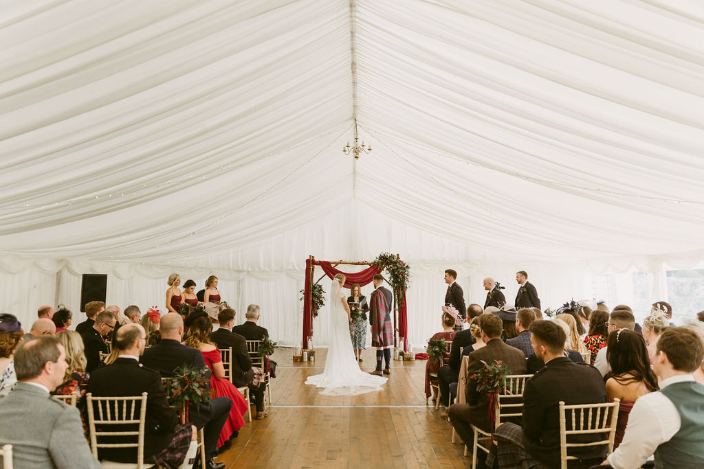 Elsick House Marquee Wedding Photography