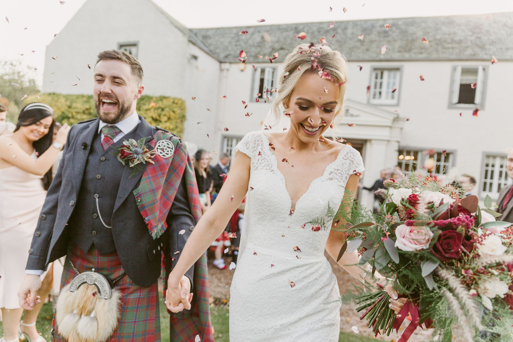 Elsick House Wedding Confetti