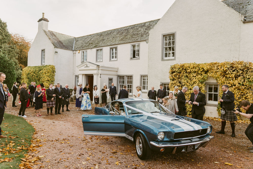 Mustang 1965 Shelby - American Car Hire Aberdeenshire | Elsick House Wedding