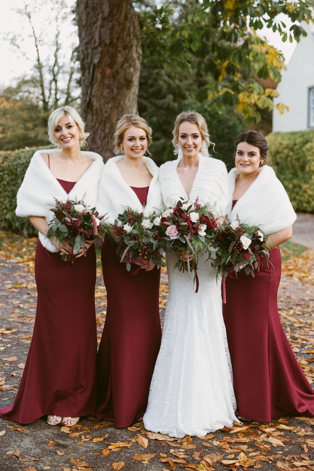 Autumnal Burgundy Elsick House Wedding | Aberdeenshire Photographer